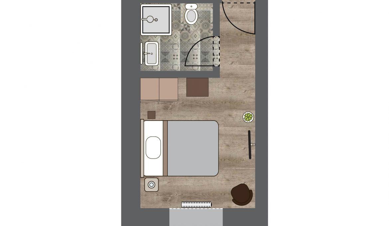 Zimmer 3 – Bahnhof Reken