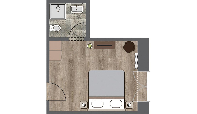 Zimmer 5 – Klein Reken